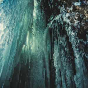 Behind Hayden Falls