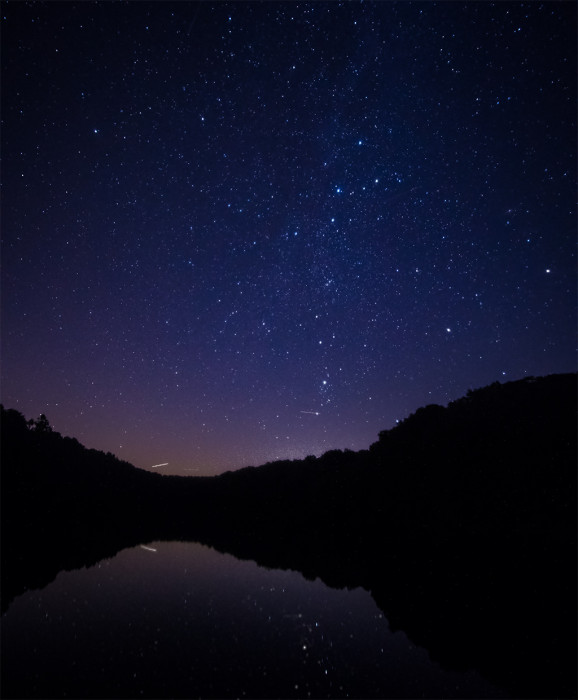 Rose Lake Star Reflection  ISO:1600 - f/2 - 12mm - 15 seconds