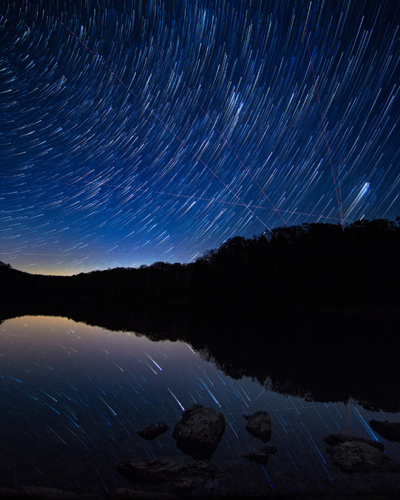 StarTrail Reflection ISO:1600 - f/2 - 12mm - 60x25 sec