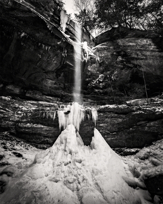Big Spring Falls BW ISO:100 - f/16 - 10mm - 1/15 sec