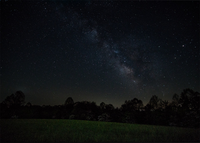 Hocking Hill Milky Way Landscape ISO:1600 - f/2 - 12mm - 15 sec & 80 sec