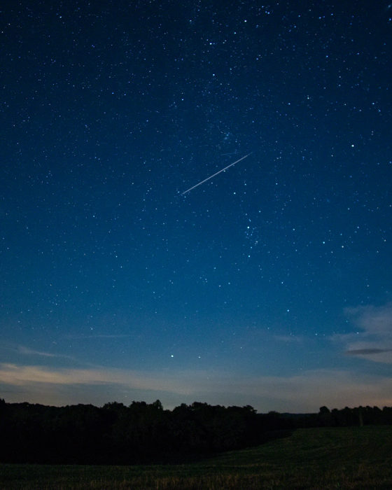 Single Perseid ISO:1600 - f/2 - 12mm - 13 sec