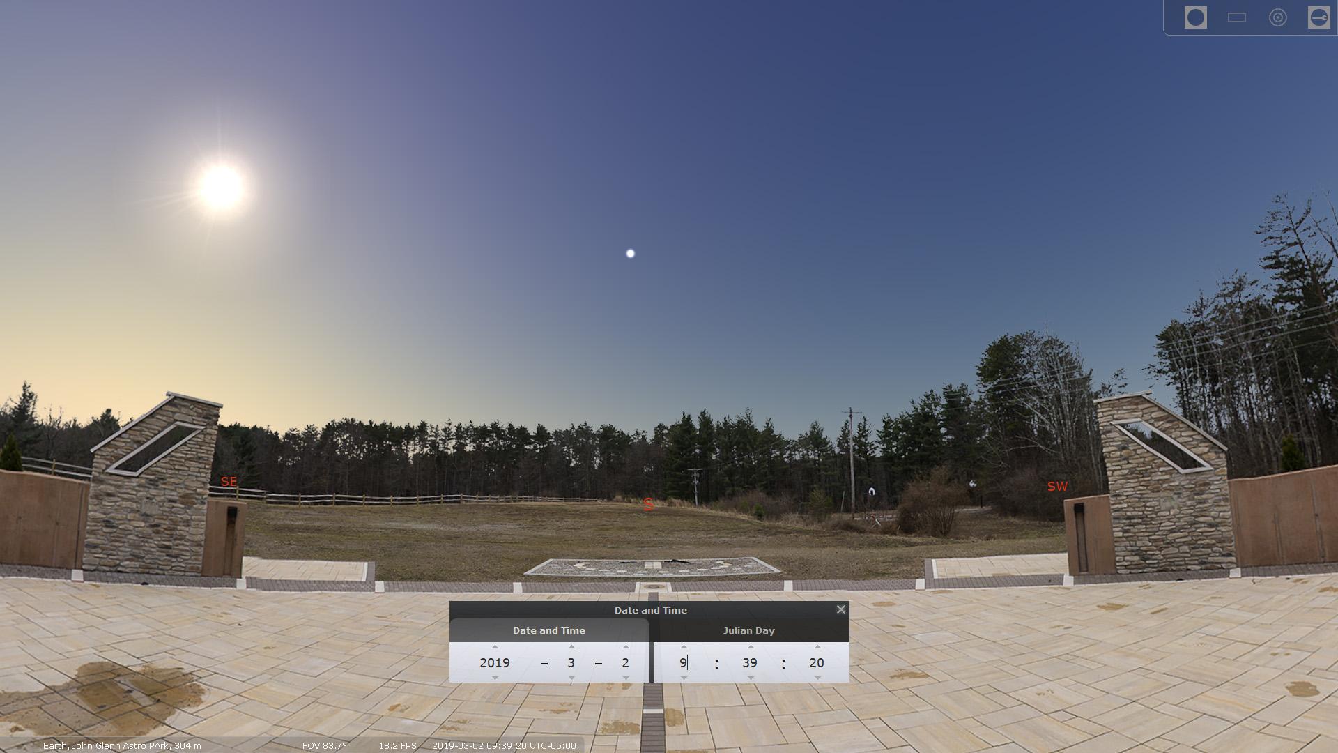 John Glenn Astronomy Park – Stellarium – Sherrill Photography